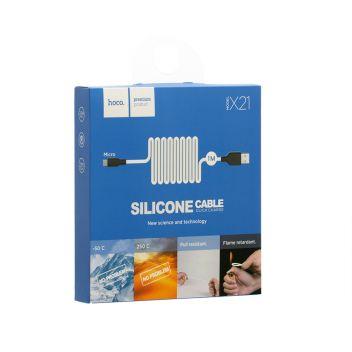 Купить USB HOCO X21 SILICONE MICRO