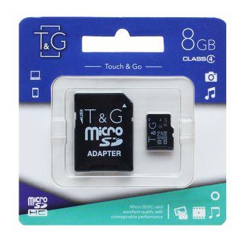 Купить КАРТА ПАМЯТИ T&G MICROSDHC 8GB 4 CLASS
