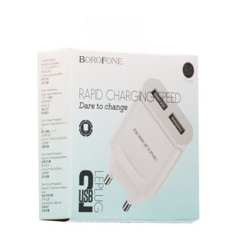 Купить СЕТЕВОЕ ЗАРЯДНОЕ УСТРОЙСТВО BOROFONE BA8A 2 USB 2.1A