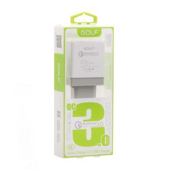 Купить СЕТЕВОЕ ЗАРЯДНОЕ УСТРОЙСТВО GOLF GF-UQ1 QC 3.0 1USB