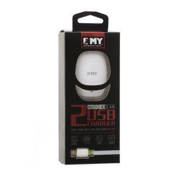 Купить СЕТЕВОЕ ЗАРЯДНОЕ УСТРОЙСТВО EMY MY-228 MICRO 2 USB
