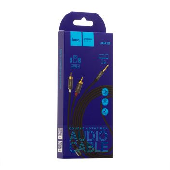 Купить AUX HOCO UPA10 LOTUS DOUBLE RCA AUDIO 3.5 MM