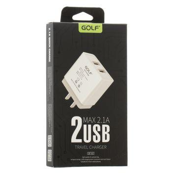 Купить СЕТЕВОЕ ЗАРЯДНОЕ УСТРОЙСТВО GOLF GF-U2 2 USB