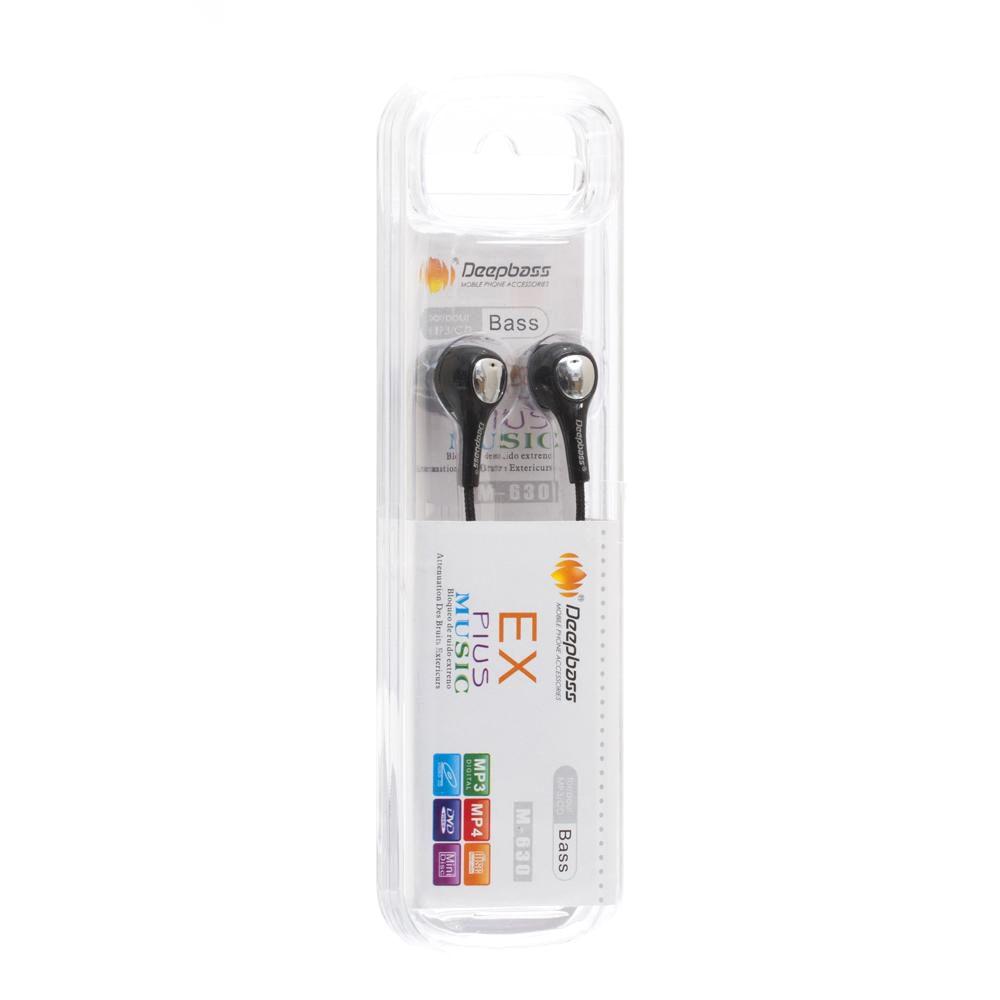 Купить НАУШНИКИ MP3 DEEPBASS M-630 NEW ТКАНЕВЫЙ ПРОВОД_1