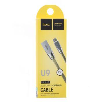 Купить USB HOCO U9 JELLY KNITTED LIGHTNING 2M