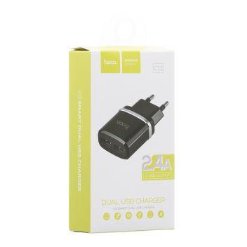 Купить СЕТЕВОЕ ЗАРЯДНОЕ УСТРОЙСТВО HOCO C12 2 USB
