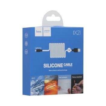 Купить USB HOCO X21 SILICONE LIGHTNING