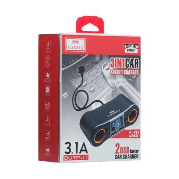 Купить АВТО HUB EARLDOM ET- M28 3IN1 3.1A