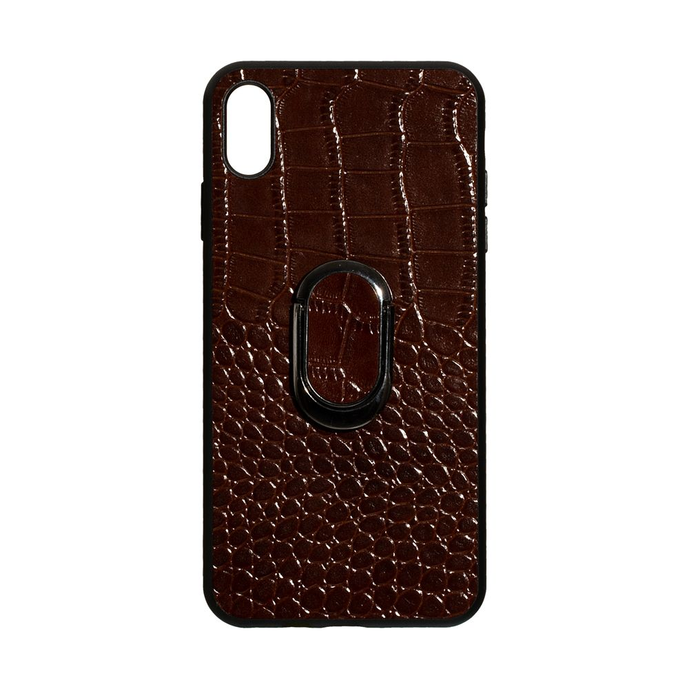 Купить ЗАДНЯЯ НАКЛАДКА GENUINE LEATHER CROCO FOR APPLE IPHONE XS MAX_2