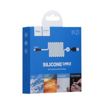 Купить USB HOCO X21 SILICONE TYPE-C
