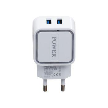 Купить СЕТЕВОЙ АДАПТЕР PLE 202N 2 USB 2.4A