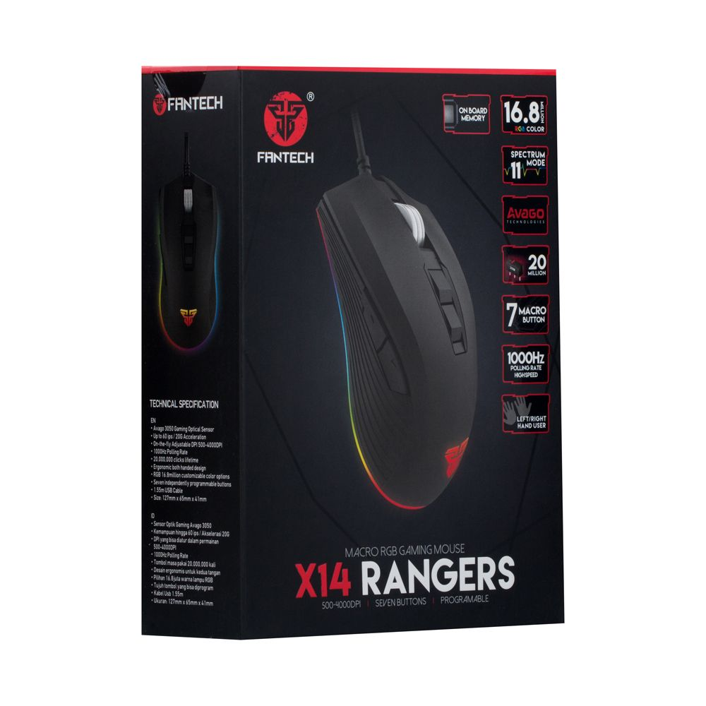 Купить USB МЫШЬ FANTECH X14 RANGERS