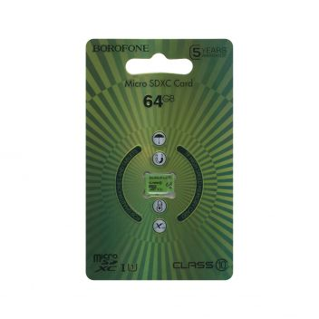 Купить КАРТА ПАМЯТИ BOROFONE MICROSDXC 64GB 10 CLASS
