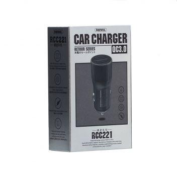 Купить АВТО ЗАРЯДНОЕ УСТРОЙСТВО REMAX RCC 221 2 USB 2.4A+QC3.0