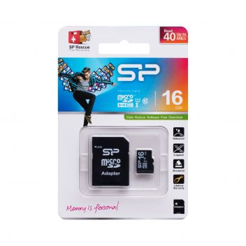 Купить КАРТА ПАМЯТИ SILICON POWER MICROSDHC 16GB 10 CLASS & ADAPTER