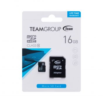 Купить КАРТА ПАМЯТИ TEAM ELITE MICROSDHC 16GB 10 CLASS & ADAPTER