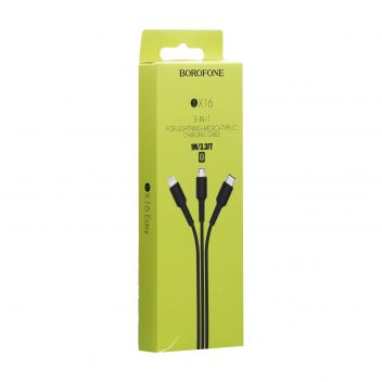 Купить USB BOROFONE BX16 3-IN-1 EASY