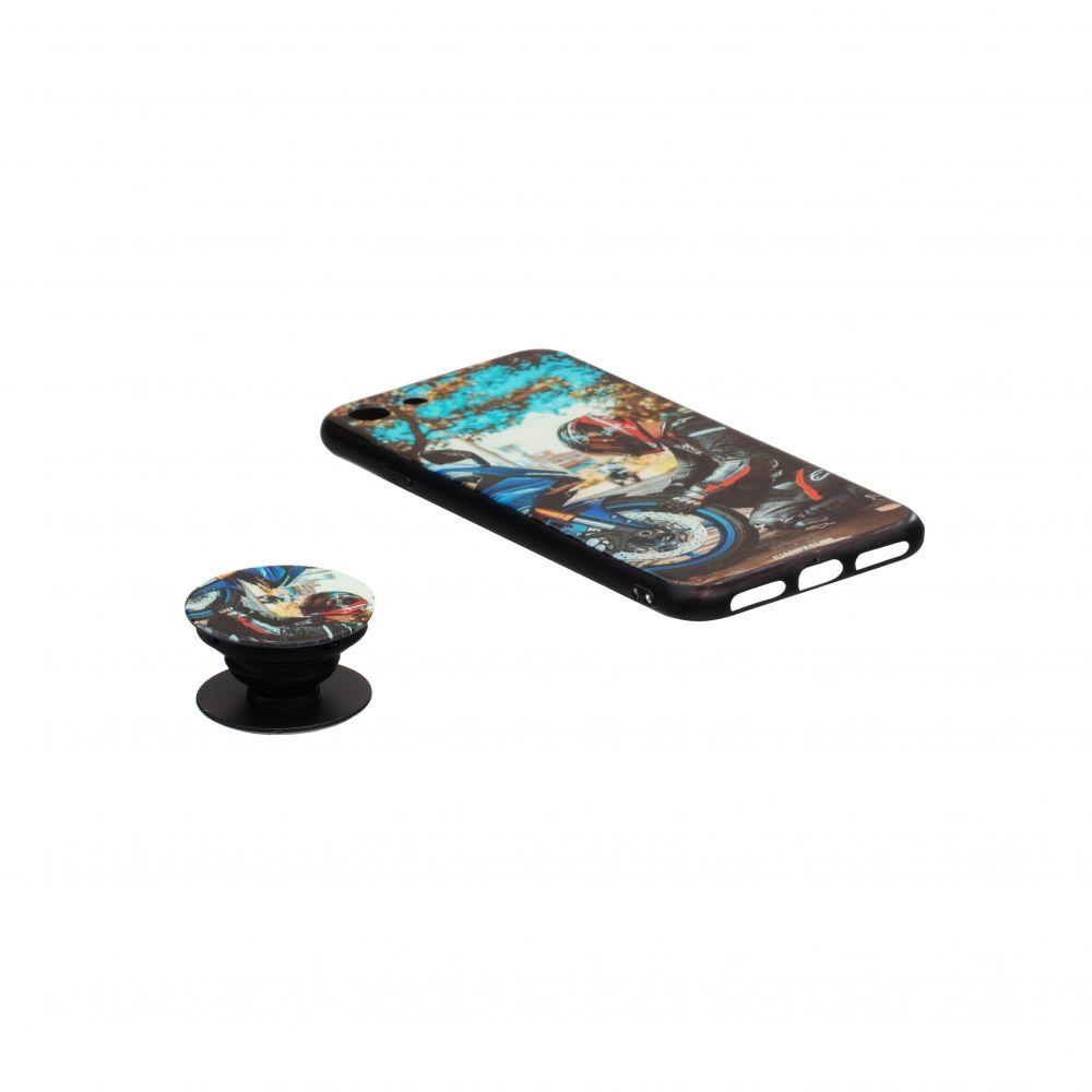 Купить ЧЕХОЛ TPU PRINT WITH POPSOCKET FOR APPLE IPHONE 8G_13
