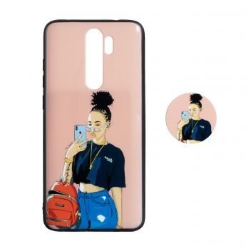 Купить ЧЕХОЛ TPU PRINT WITH POPSOCKET FOR XIAOMI REDMI NOTE 8 PRO