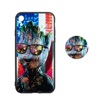 Купить TPU PRINT WITH POPSOCKET FOR APPLE IPHONE XR