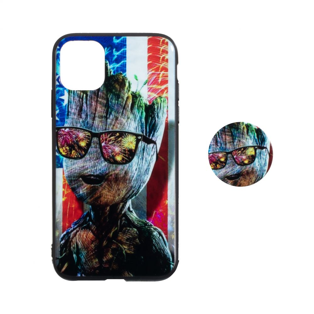 Купить TPU PRINT WITH POPSOCKET FOR APPLE IPHONE 11 PRO MAX_9