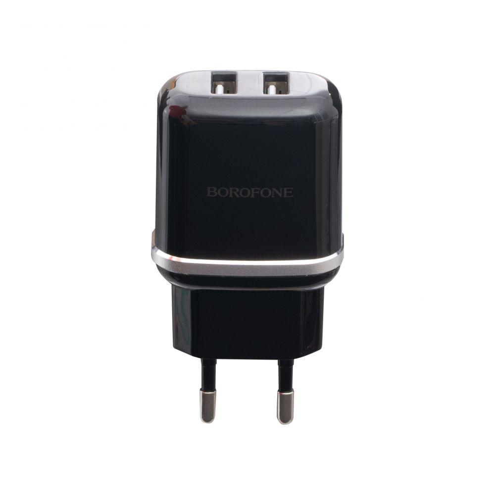 Купить СЕТЕВОЕ ЗАРЯДНОЕ УСТРОЙСТВО BOROFONE BA25A MICRO 2 USB 2.4A_2