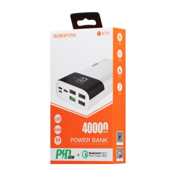 Купить POWER BANK BOROFONE DBT01 PD 40000 MAH