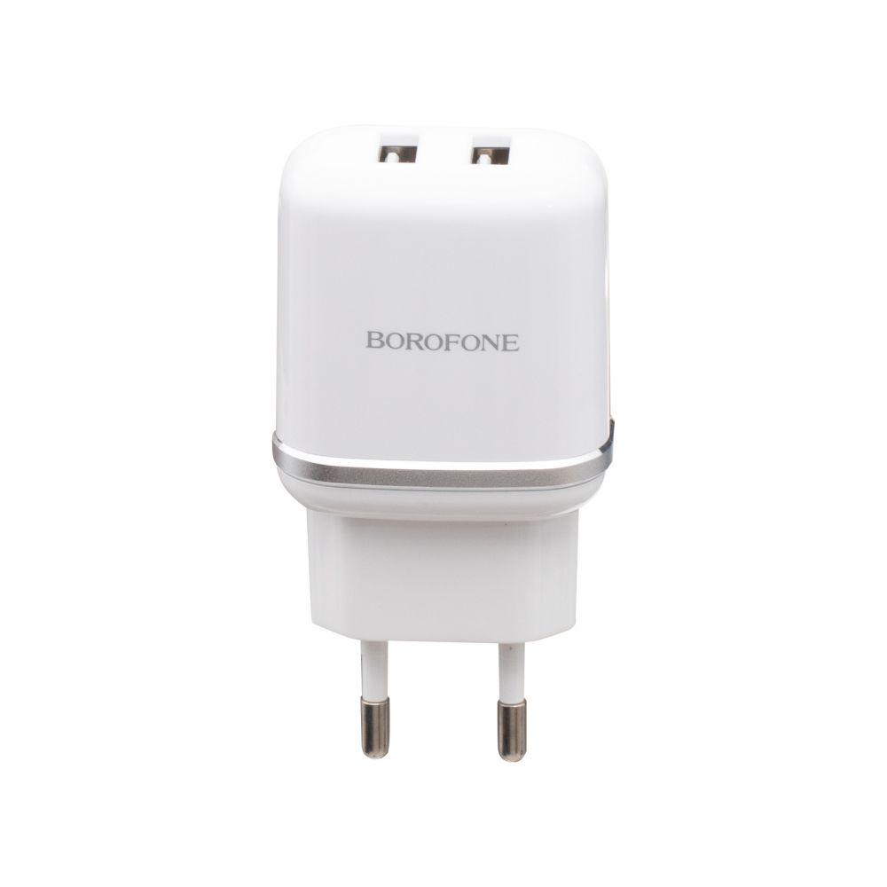 Купить СЕТЕВОЕ ЗАРЯДНОЕ УСТРОЙСТВО BOROFONE BA25A MICRO 2 USB 2.4A_3