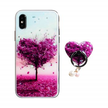 Купить TPU PRINT WITH RING FOR APPLE IPHONE X / XS