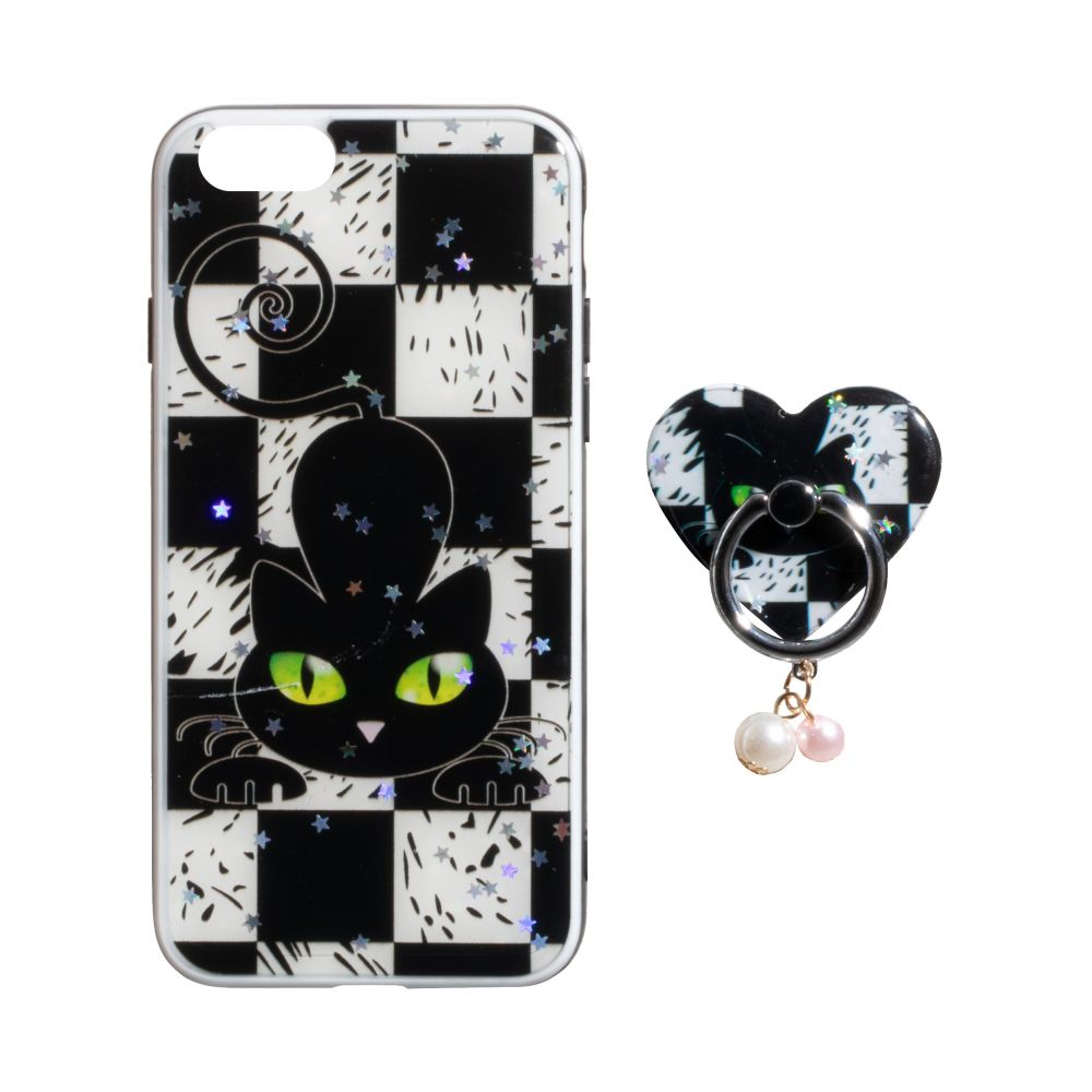 Купить ЧЕХОЛ TPU PRINT WITH RING FOR APPLE IPHONE 8G_4