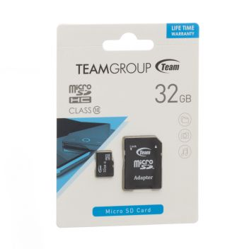 Купить КАРТА ПАМЯТИ TEAM ELITE MICROSDHC 32GB 10 CLASS & ADAPTER