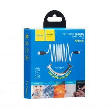Купить USB HOCO X21 PLUS SILICONE TYPE-C