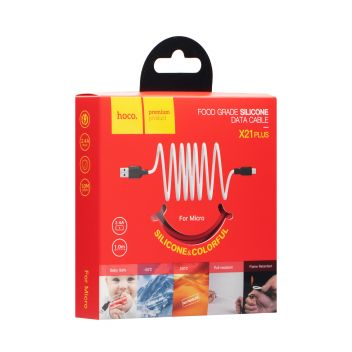 Купить USB HOCO X21 PLUS SILICONE MICRO