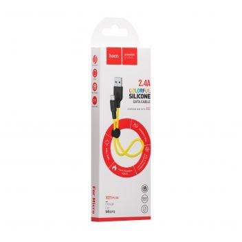 Купить USB HOCO X21 PLUS SILICONE MICRO 0.25M