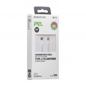 Купить USB BOROFONE BX36 UNION PD LIGHTNING 18W