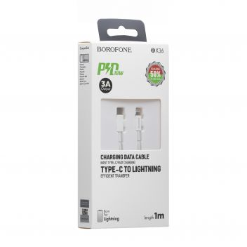 Купить USB BOROFONE BX36 UNION PD LIGHTNING 18W