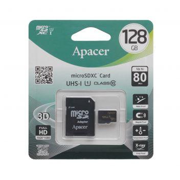 Купить КАРТА ПАМЯТИ APACER MICROSDXC 128GB 10 CLASS & ADAPTER