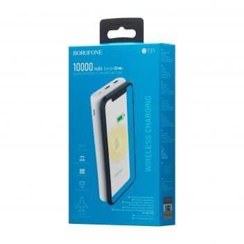 Купить POWER BANK BOROFONE BT31 WIRELESS 10000 MAH
