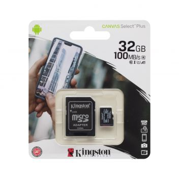 Купить КАРТА ПАМЯТИ KINGSTON MICROSDHC (UHS-1) 32GB 10 CLASS & ADAPTER