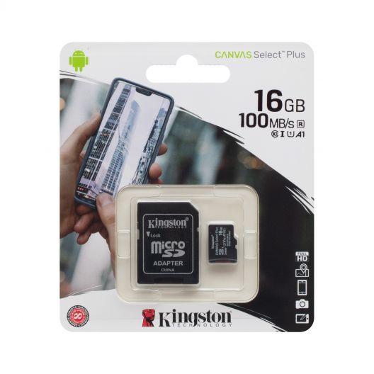 Купить КАРТА ПАМЯТИ KINGSTON MICROSDHC (UHS-1) 16GB 10 CLASS & ADAPTER