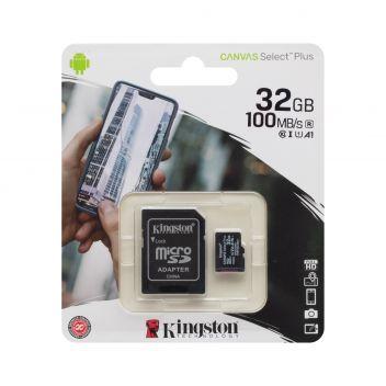 Купить КАРТА ПАМЯТИ KINGSTON MICROSDHC (UHS-1) 32GB 10 CLASS & ADAPTER