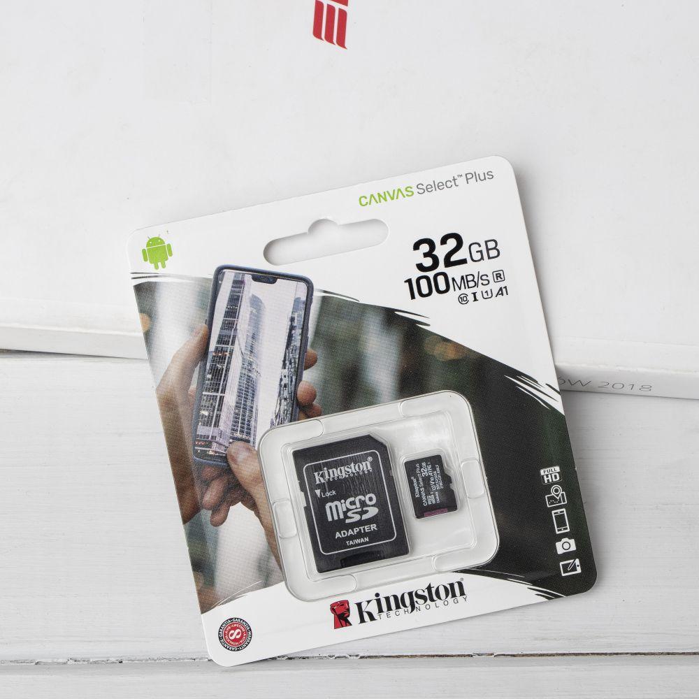 Купить КАРТА ПАМЯТИ KINGSTON MICROSDHC (UHS-1) 32GB 10 CLASS & ADAPTER_1