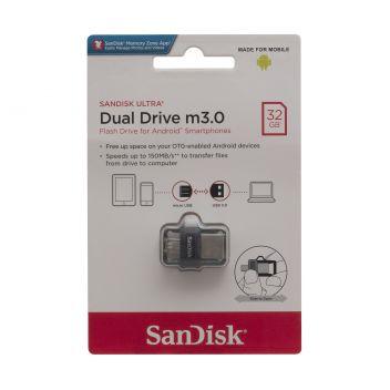 Купить USB OTG SANDISK ULTRA DUAL DRIVE M3.0 32GB (150 MB/S) USB 3.0