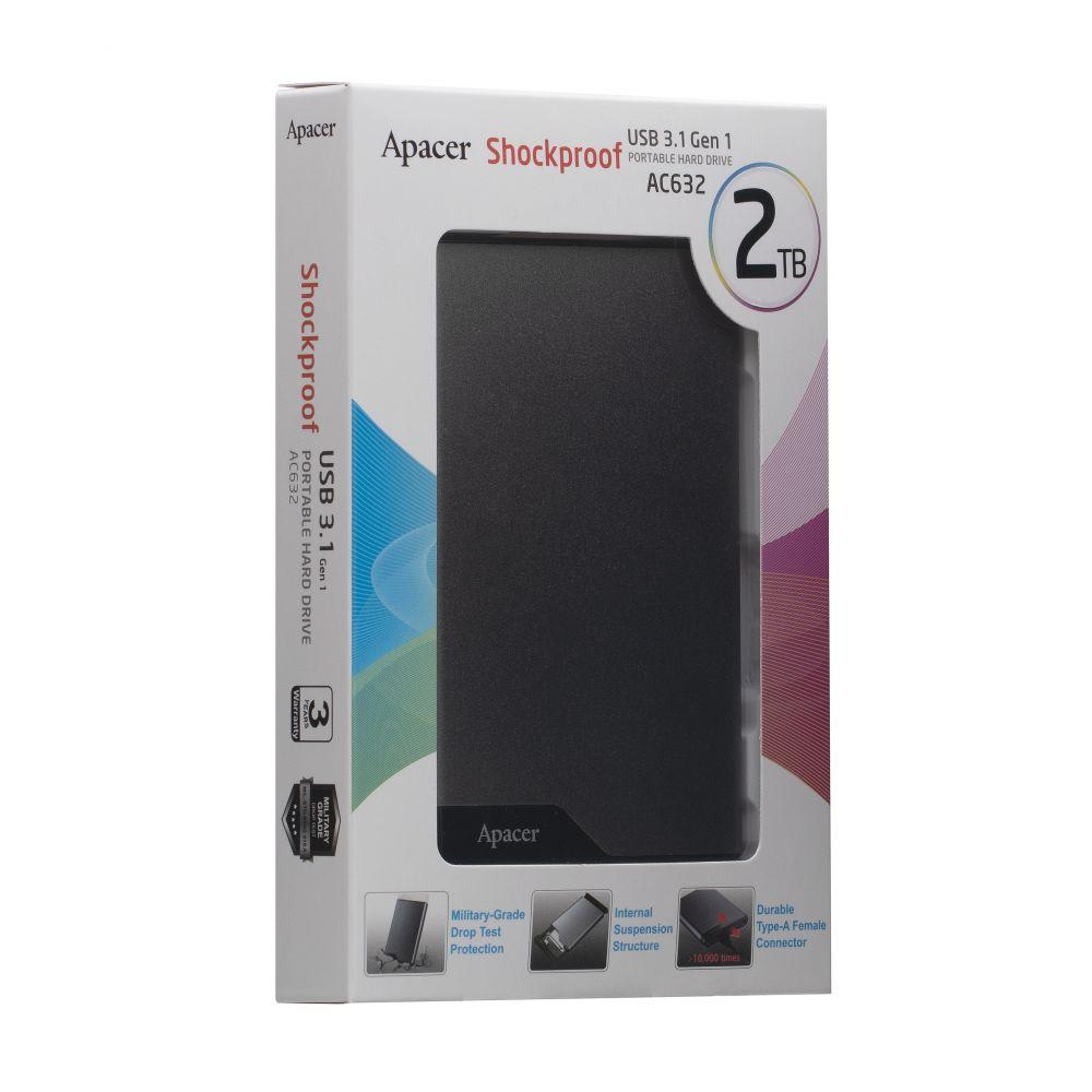 Купить ВНЕШНИЙ ЖЕСТКИЙ ДИСК PHD APACER USB 3.2 AC632 2TB
