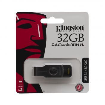 Купить USB FLASH DRIVE KINGSTON DT SWIVEL DESIGN 32GB 3.0