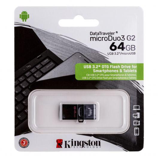 Купить USB OTG KINGSTON DT MICRODUO 64GB G2 MICRO USB 3.2