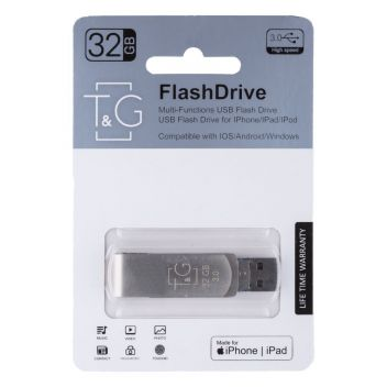 Купить USB OTG T&G 3&1 LIGHTNING&ANDROID 32GB METAL 007
