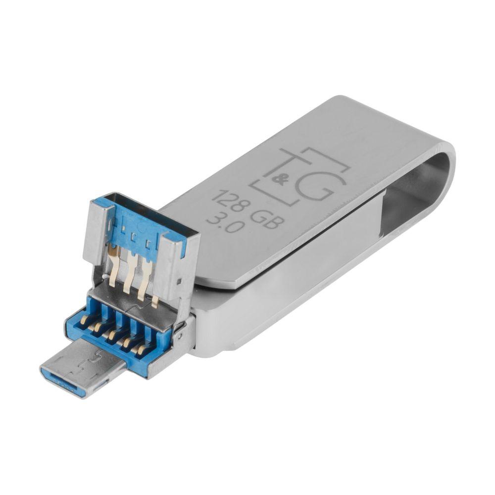 Купить USB OTG T&G 3&1 LIGHTNING & ANDROID 128GB METAL 007_2