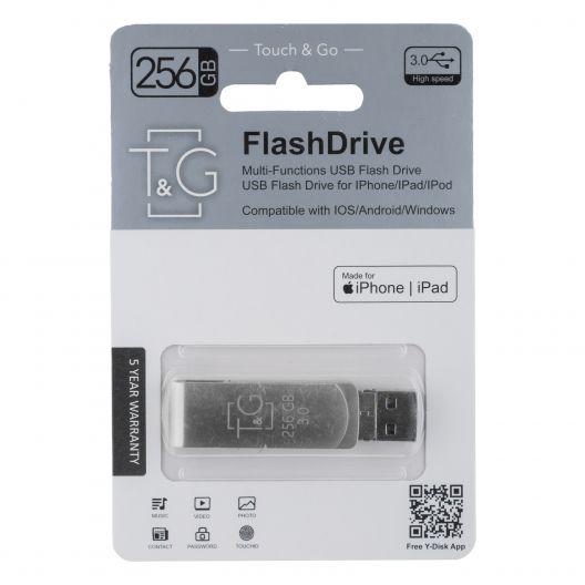 Купить USB OTG T&G 3&1 LIGHTNING & ANDROID 256GB METAL 007