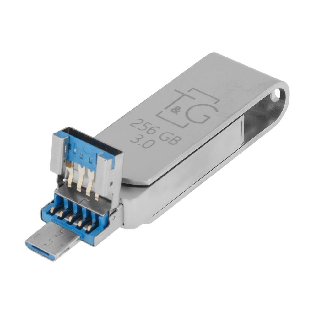 Купить USB OTG T&G 3&1 LIGHTNING & ANDROID 256GB METAL 007_2